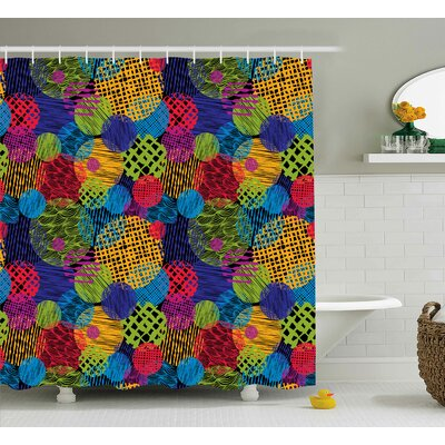 Ardale Geometric Sketchy Decor Shower Curtain Size: 69 W x 75 L