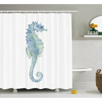 Roxanna Painbrush Photo Seahorse Shower Curtain Size: 69