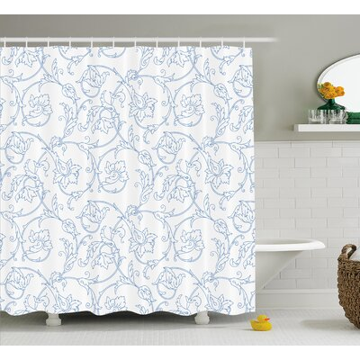 Sealy Bohemian Vintage Orchids Shower Curtain Size: 69 W x 84 L
