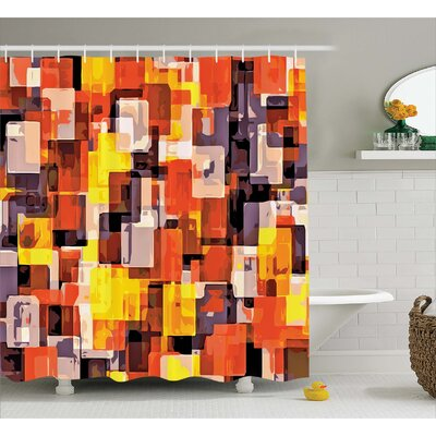Abraham Modern Painting Shower Curtain Size: 69 W x 70 L