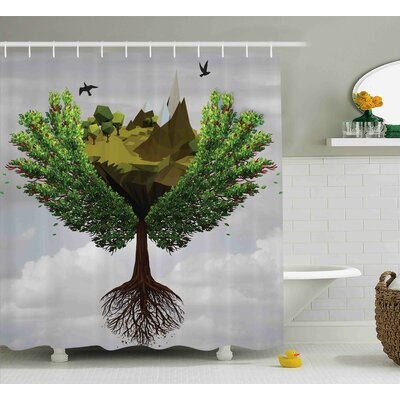 Lafayette Fractal Tree Figures Shower Curtain Size: 69 W x 84 L