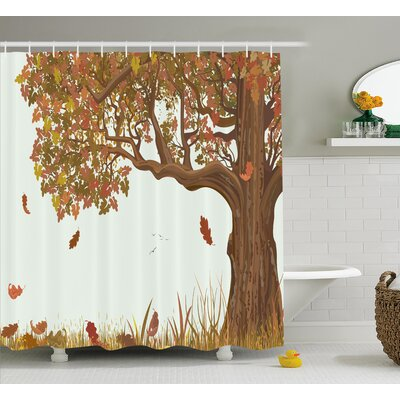 Genesee Deciduous Oak Leaves Shower Curtain Size: 69 W x 70 L