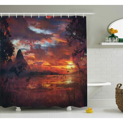 Avillion Safari Wild Forest Print Shower Curtain Size: 69 W x 70 L