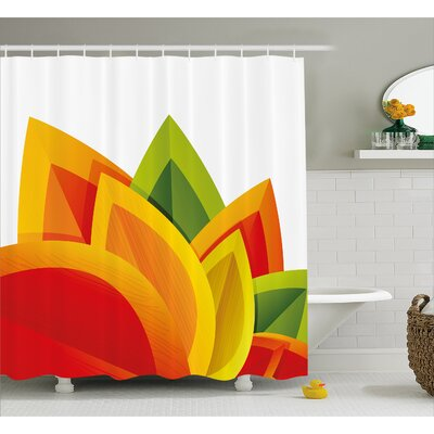 Abstract Digital Autmn Leaf Shower Curtain Size: 69 W x 75 L