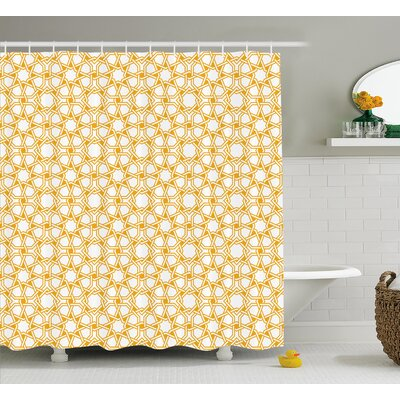 Braylen Islamic Ethnic Effects Shower Curtain Size: 69 W x 84 L