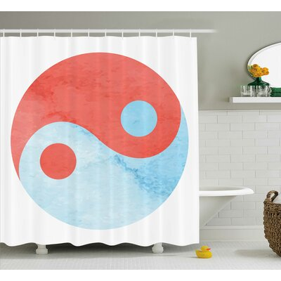 Billman Yang Decor Watercolor Art Shower Curtain Size: 69 W x 70 L