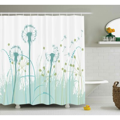 Yasmeen Floral Botany Blooms Shower Curtain Size: 69