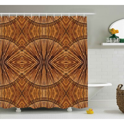 Archway Eastern Bamboo Pattern Shower Curtain Size: 69 W x 84 L