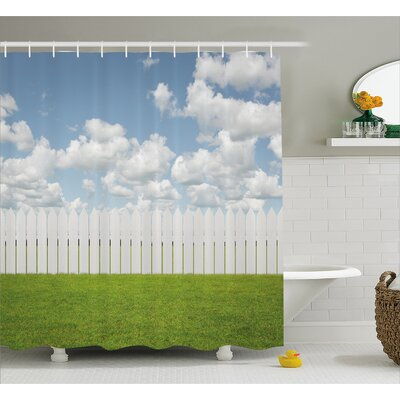 Scenery Sky with Clouds Farm Shower Curtain Size: 69 W x 84 L