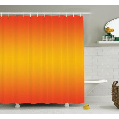 Inspired Tropical Summer Themed Print Shower Curtain Size: 69 W x 84 L