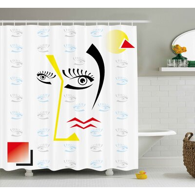 Beachum Abstract Trippy Decor Shower Curtain Size: 69 W x 70 L