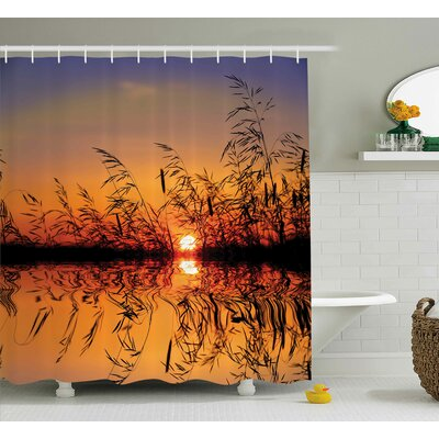 Bleeker Lake Sunset Photo Scene Shower Curtain Size: 69 W x 70 L