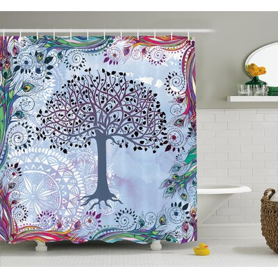 Ayana Vintage Tree of Life Shower Curtain Size: 69 W x 75 L