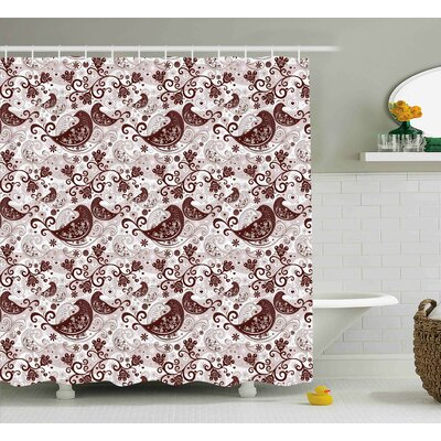 Quarryville Oriental Bird Figures Shower Curtain Size: 69 W x 84 L