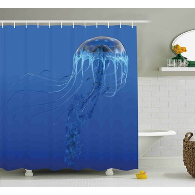 Roy Blue Ocean Animal Shower Curtain Size: 69 W x 84 L