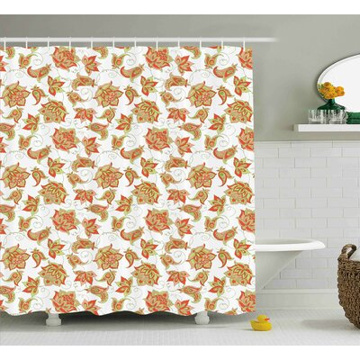 Quarryville Ottoman Vivid Decor Shower Curtain Size: 69 W x 75 L