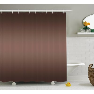 Inspired Digital Brown Room Decor Shower Curtain Size: 69 W x 70 L