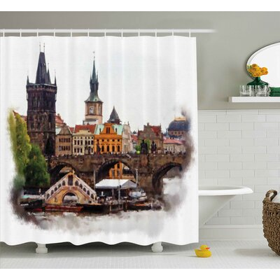 Brunelle  Calm Nature Landscape Shower Curtain Size: 69 W x 70 L