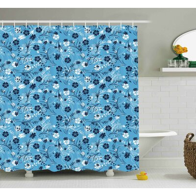 Barton Decor Shabby Elegance Petals Shower Curtain Size: 69 W x 75 L