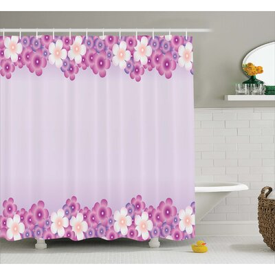 Destin Floral Petals Shower curtain Size: 69 W x 84 L