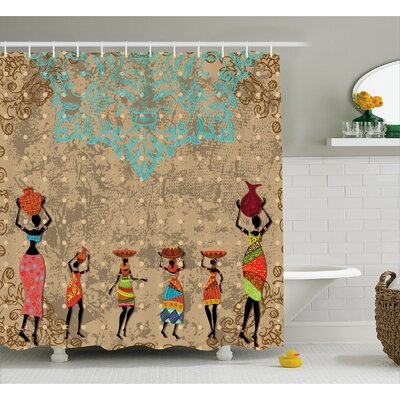 Avia Folkloric Boho African Shower Curtain Size: 69 W x 75 L
