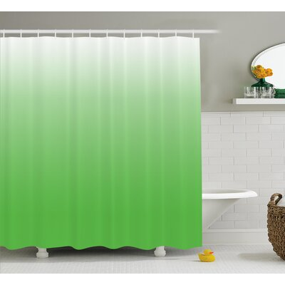 Inspired Yellow Vivid Grass Decor Shower Curtain Size: 69 W x 84 L