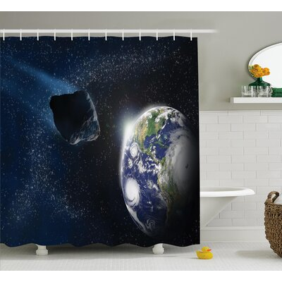 Belz Asteroid Rocky Space Shower Curtain Size: 69 W x 84 L