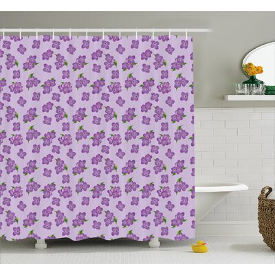 Jordy Botany Flowers Field Shower Curtain Size: 69 W x 84 L