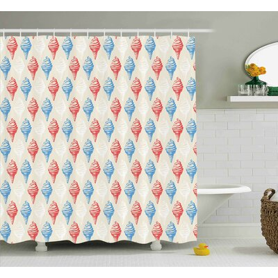 Jadon Dessert Theme Decor Print Shower Curtain Size: 69 W x 70 L