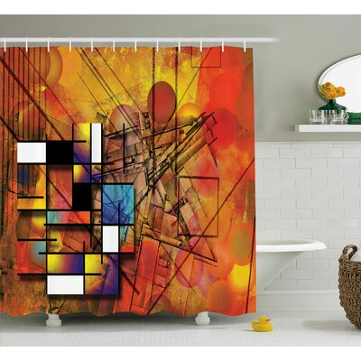 Florance Geometric Figures Image Shower Curtain Size: 69