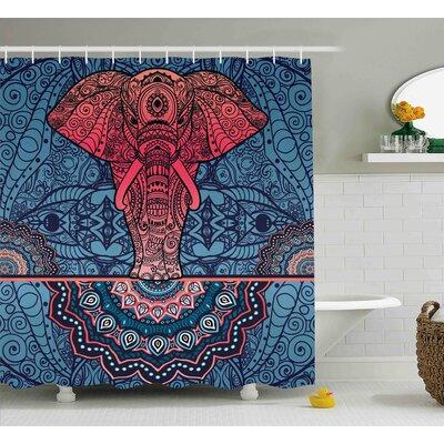 Alep Oriental Sprials Cosmos Shower Curtain Size: 69 W x 75 L