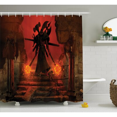 Beagle Evil Demonic Character Shower Curtain Size: 69 W x 75 L