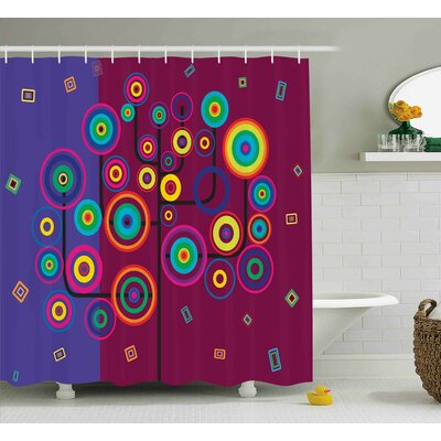 Lorenzo Geometric Tree Branches Shower Curtain Size: 69 W x 70 L