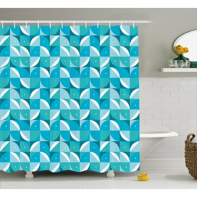 Ewing Half Circles Triangle Shower Curtain Size: 69 W x 70 L