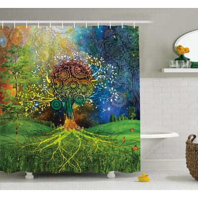 Appleton Mother Earth Zen Decor Shower Curtain Size: 69 W x 70 L