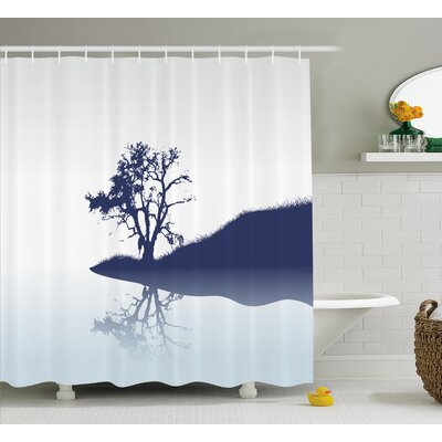 Hanh Lonely Tree by Lake Shower Curtain Size: 69 W x 84 L