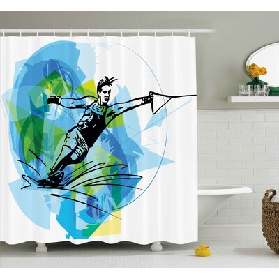 Sports Exotic Sealife Decor Print Shower Curtain Size: 69 W x 70 L
