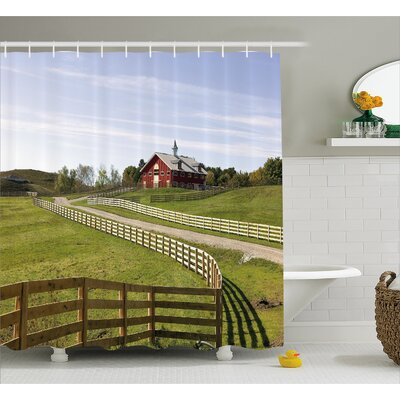 Burngrove House Rural Country House Shower Curtain Size: 69 W x 70 L