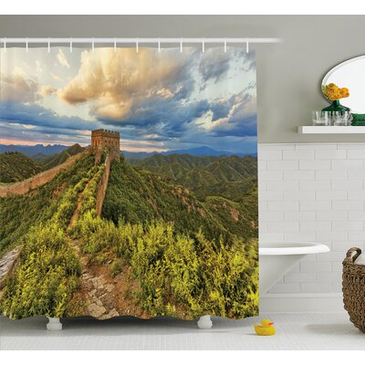 Asian Wonder of World Castle Shower Curtain Size: 69 W x 84 L