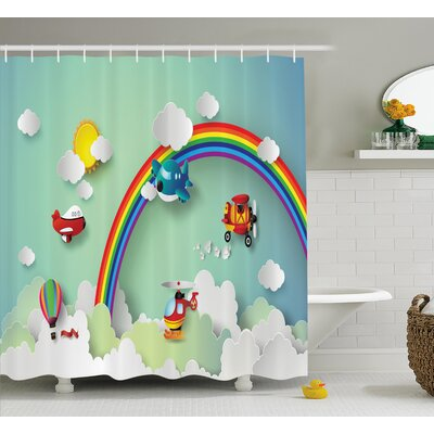 Julian Rainbow Sunny Sky Baby Print Shower Curtain Size: 69 W x 75 L