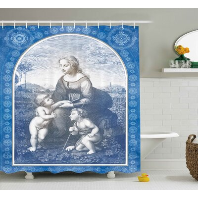 Alasan Medieval Antique Frame Print Shower Curtain Size: 69 W x 75 L