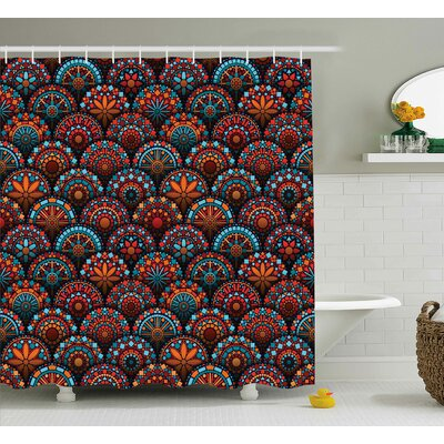 Audington Geometric Floral Forms Shower Curtain Size: 69 W x 70 L