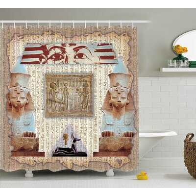 Anjali Ancient Heritage Mummy Shower Curtain Size: 69 W x 75 L