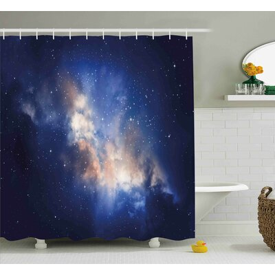 Immense Space Hole View Shower Curtain Size: 69 W x 84 L