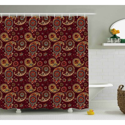 Barwick Middle Eastern Tribual Shower Curtain Size: 69 W x 75 L