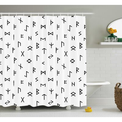 Berkowitz Tribal Symbols Shower Curtain Size: 69 W x 84 L