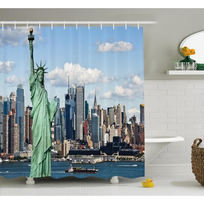 Harbor Statue of L?berty NYC Shower Curtain Size: 69 W x 84 L