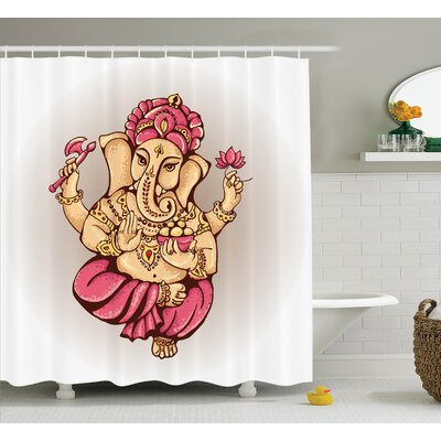 Beldin Indian Goddess Elephant Shower Curtain Size: 69 W x 70 L