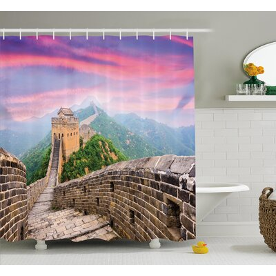China Fantasy Sky Architecture Shower Curtain Size: 69 W x 70 L
