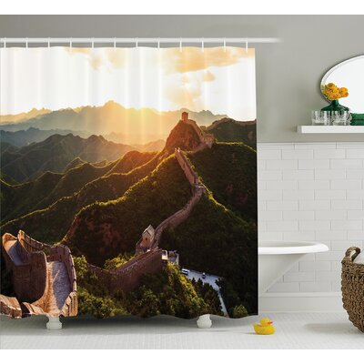 Historical Mystic Sunset Time Shower Curtain Size: 69 W x 70 L